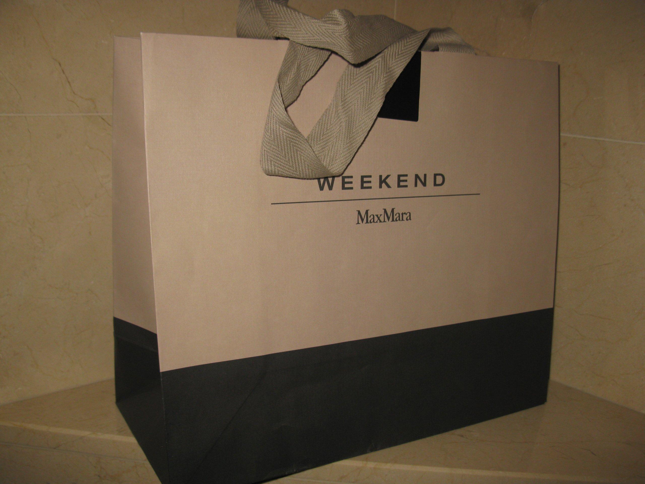 3ecd9801968ce MAX MARA WEEKEND torba papierowa L NOWA - 7291528138 - oficjalne ...