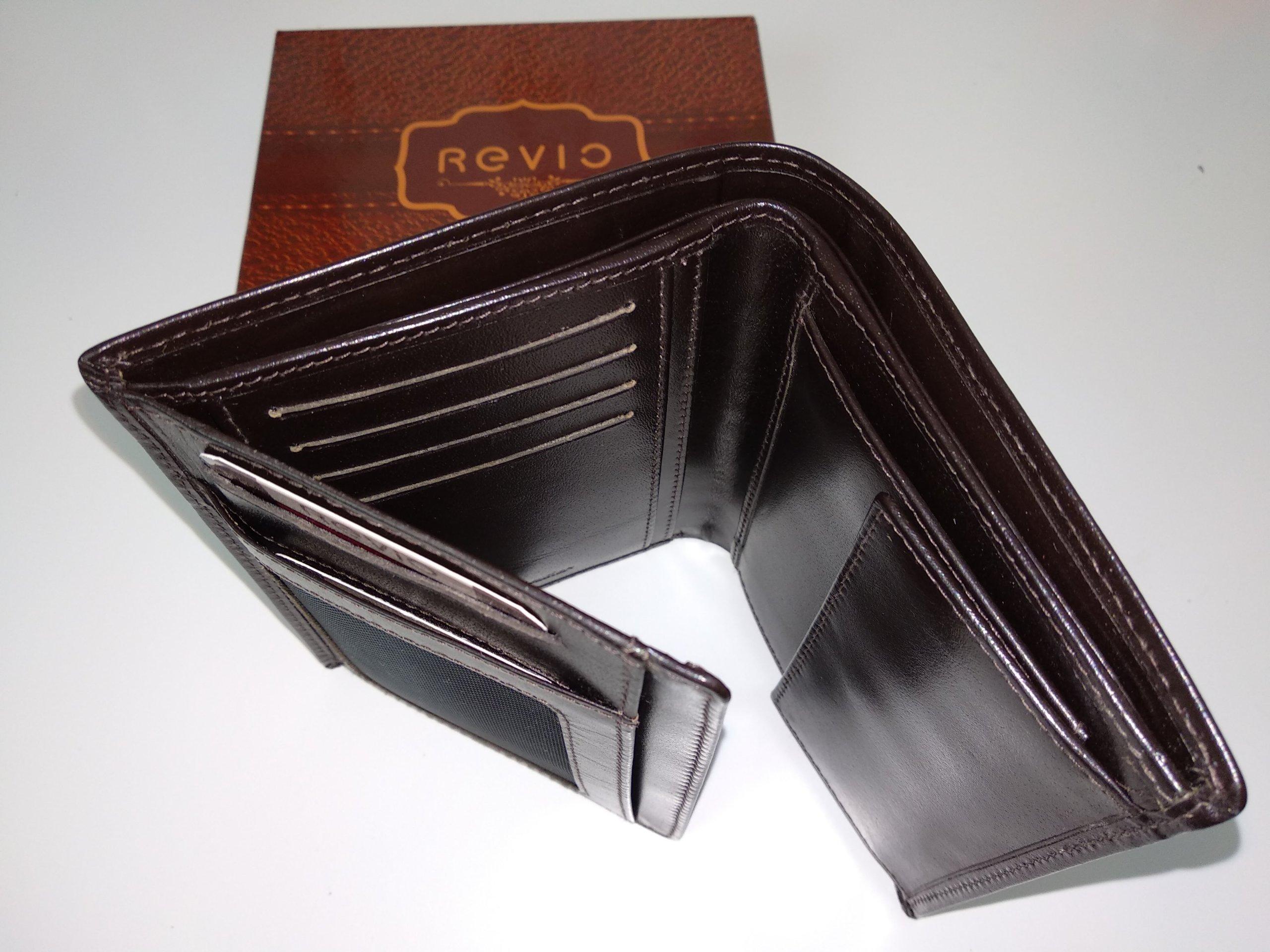 e0c6c7289168f Polski portfel męski Revio, skóra naturalna NOWY - 7231516487 ...