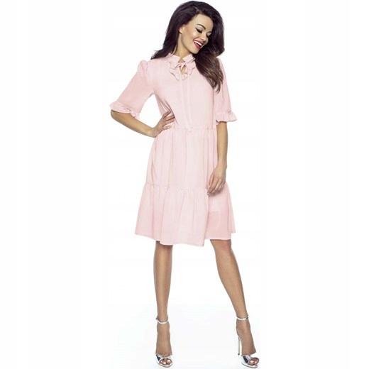 53c9ad8784 Sukienka w stylu boho pudrowy róż rozm. XS S - 7653749421 ...