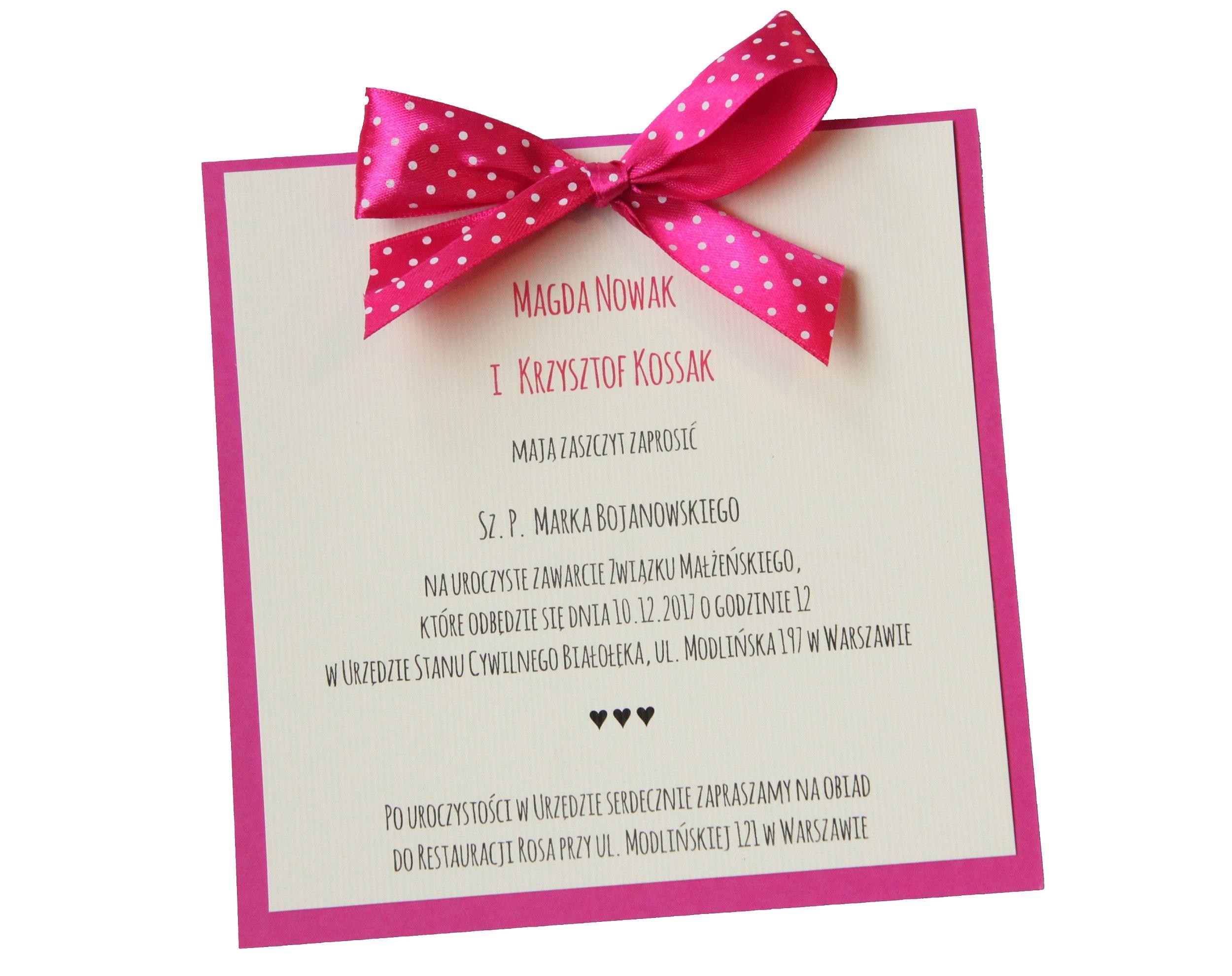 Zaproszenia Na ślub ślubne Kolekcja Simply Sweet 6669258044
