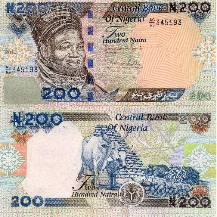 Nigeria 200 Naira P 29 2010 Stan I Unc
