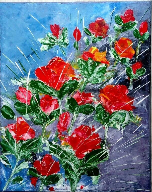 Obraz Kwiaty Abstrakcja 7582856195 Oficjalne Archiwum Allegro