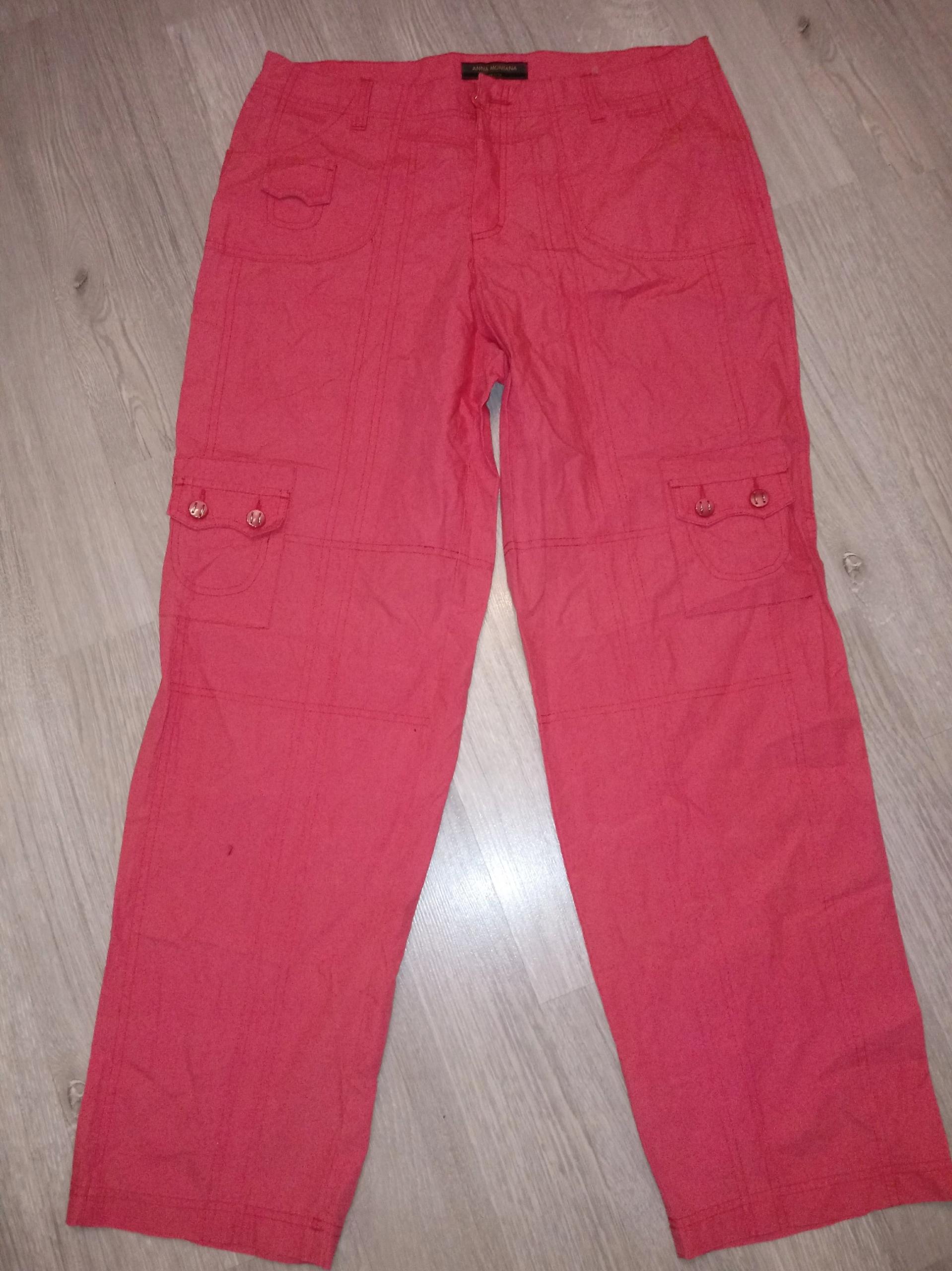 53426d229aa7 Spodnie damskie bojówki r.46 super stan różowe - 7700472153 ...