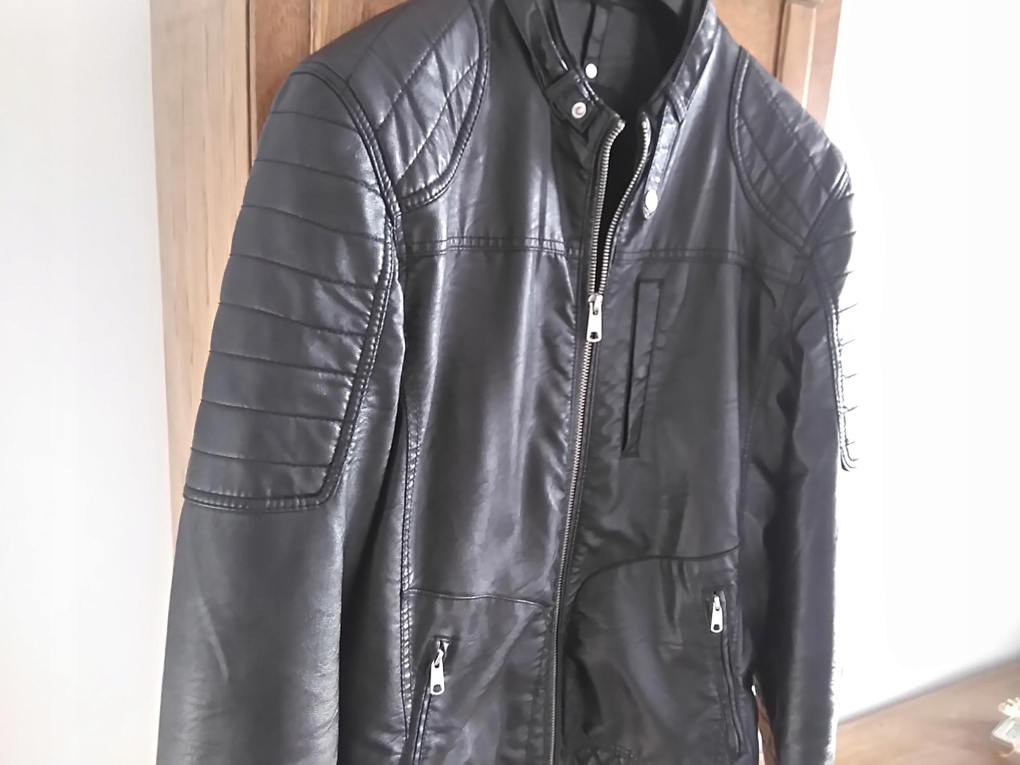 c34137e352069 Kurtka męska BERSHKA skóra biker zip reserved zara - 7704717333 ...