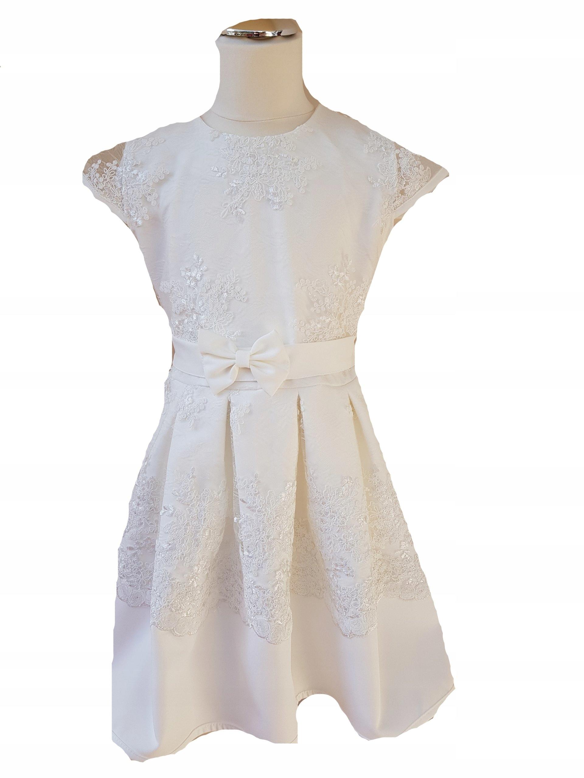 15e37de4 Sukienka elegancka ecru na wesele 152 - 7405546451 - oficjalne ...