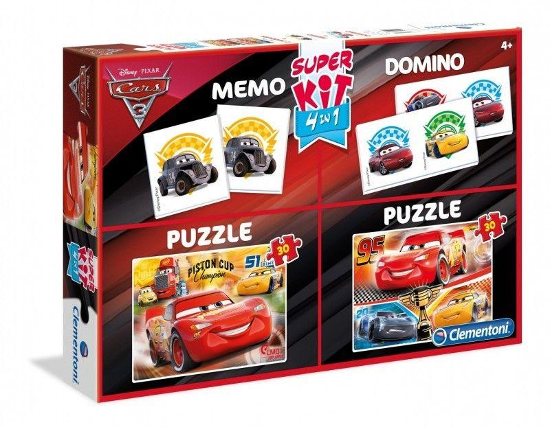 2x30 Elementów Memo Domino Cars 3