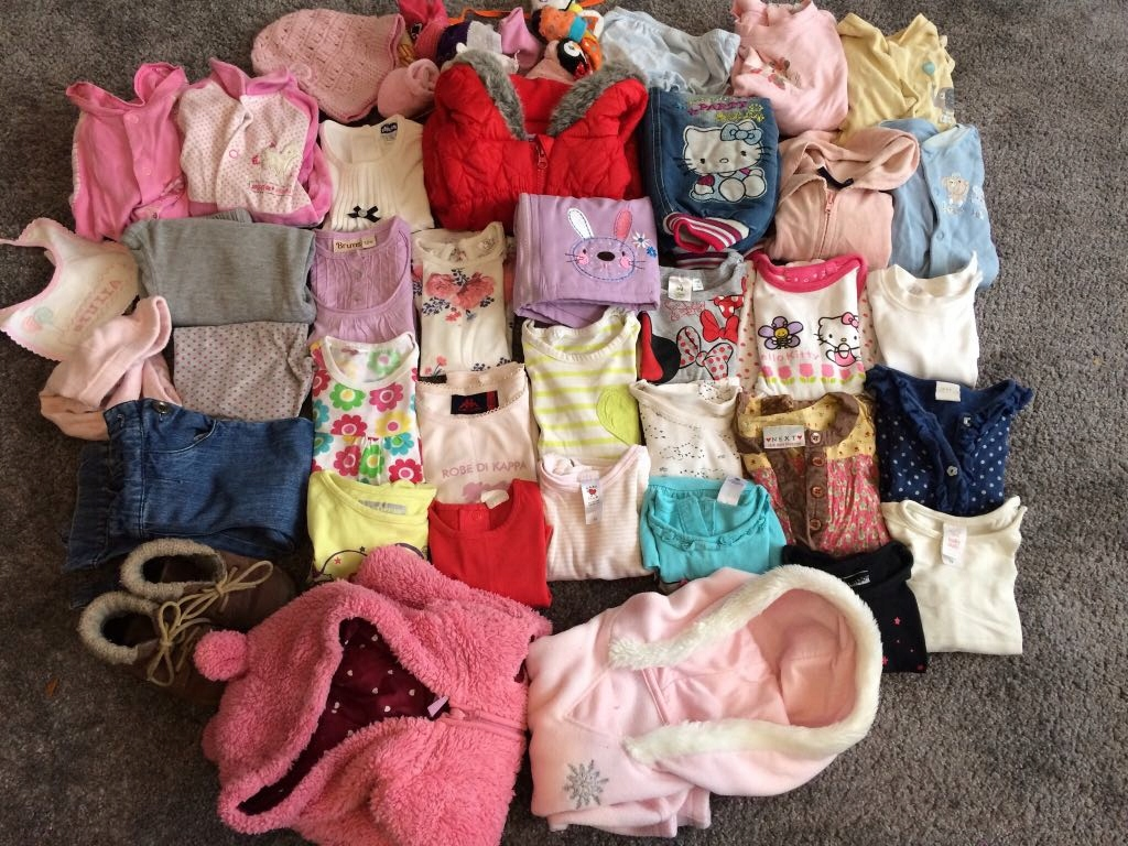 46 szt komplet zestaw ubrania ubranka 74,80 buty