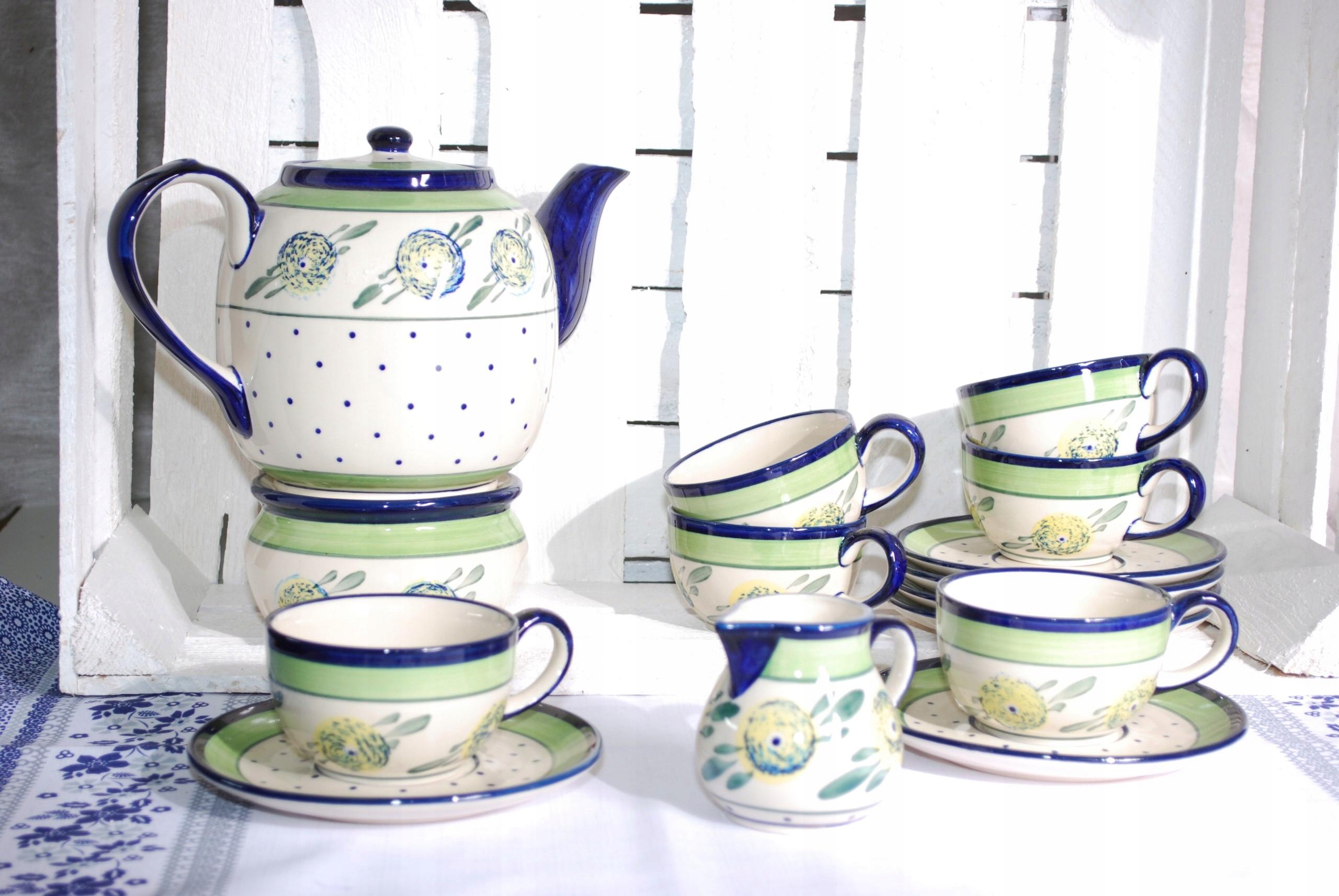 Ceramika Bolesławiec Komplet Kawowy Dla 6 Os 7426765270