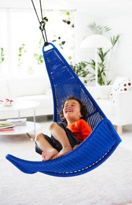 Huśtawka Fotel Wiszący Ikea Svinga Hamak Niebieska