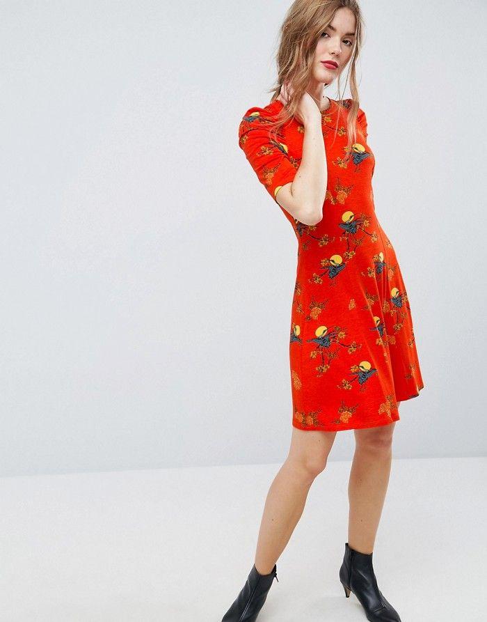 de253c5328 ASO Sukienka czerwona orientalna (38) - 7283379951 - oficjalne archiwum  allegro