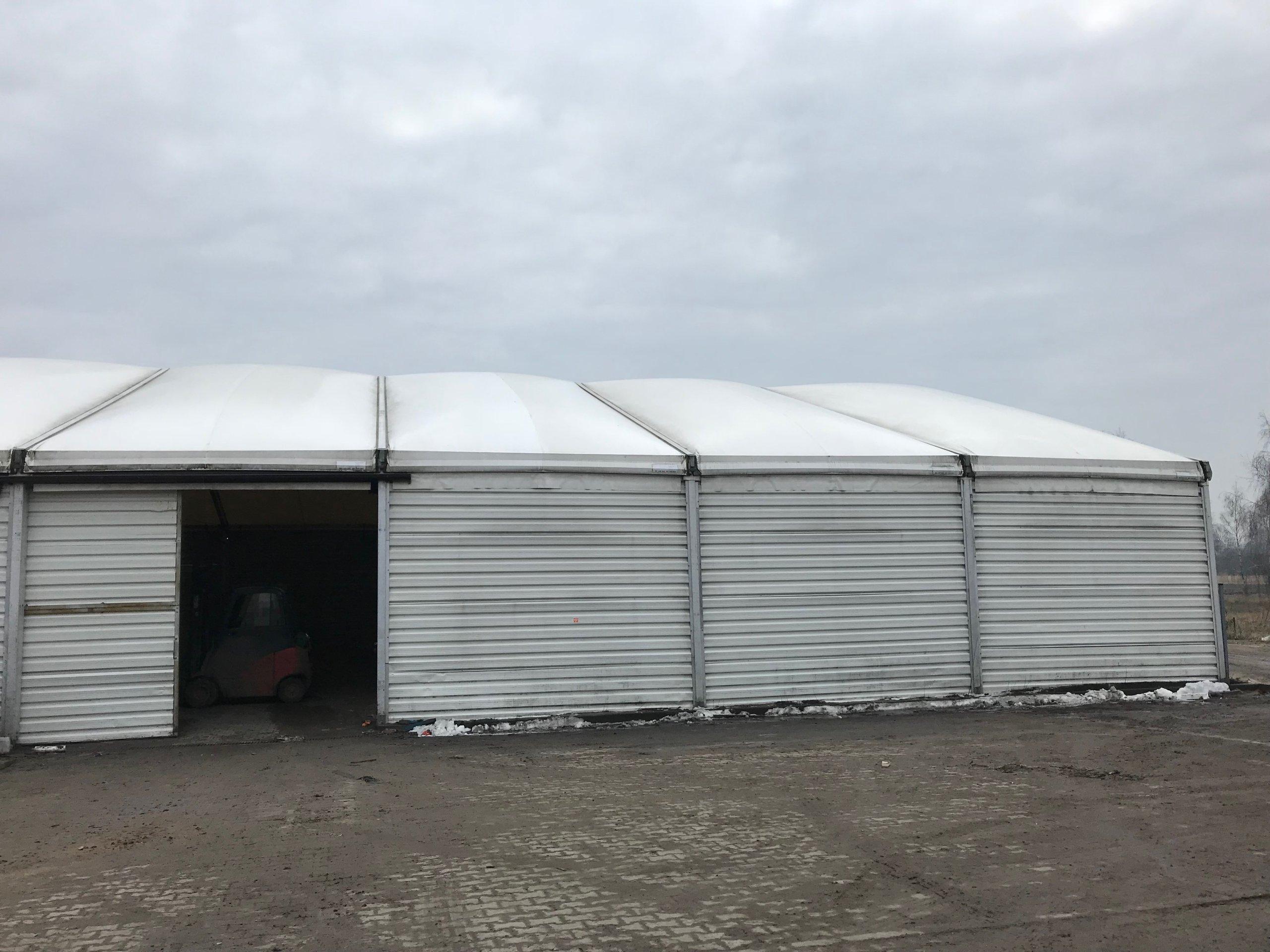 Hala namiotowa z dmuchanym dachem 20m x 30m
