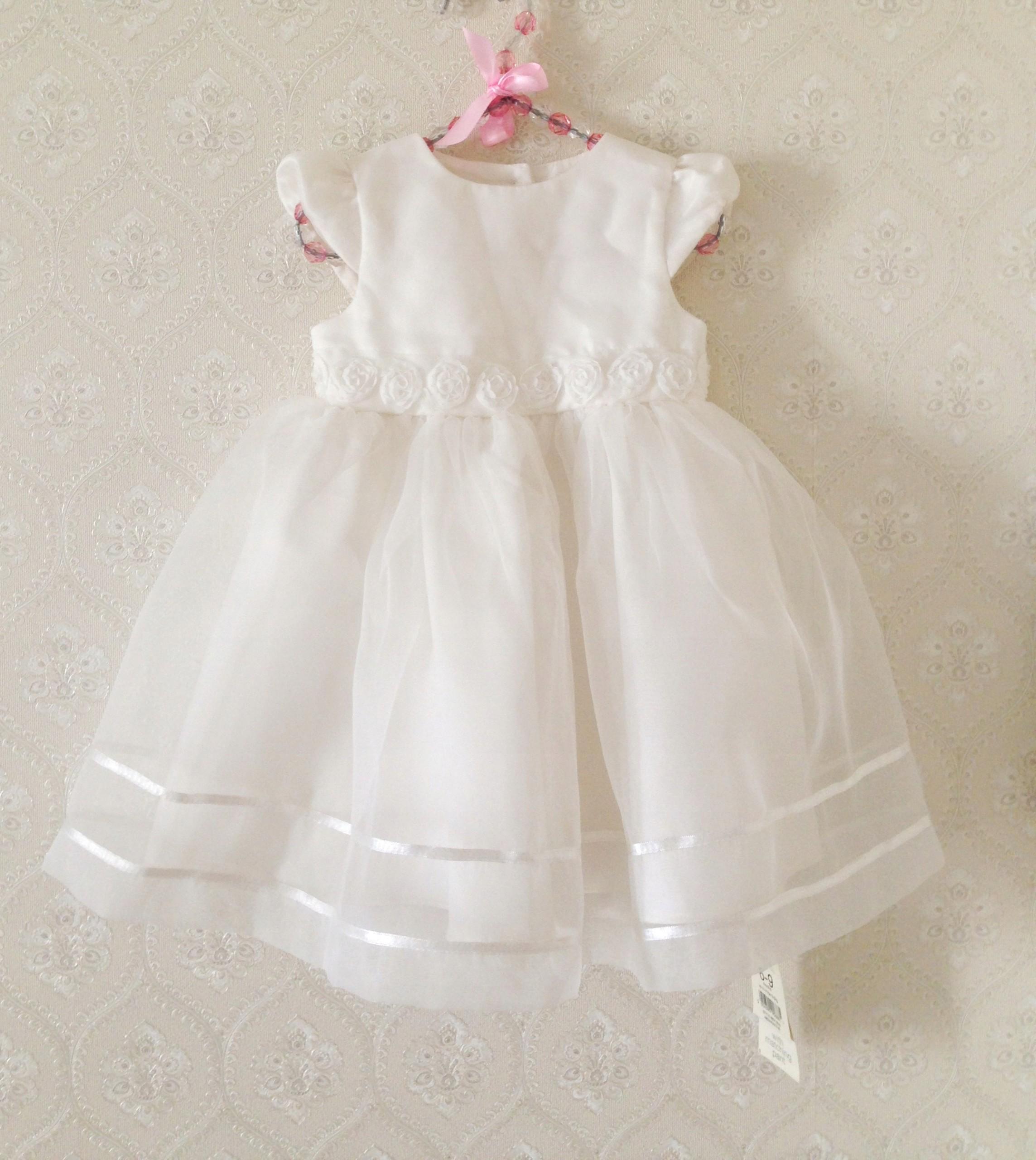ba1042004a sukienka wizytowa chrzciny wesele wzrost 68 74 cm - 7426513028 ...