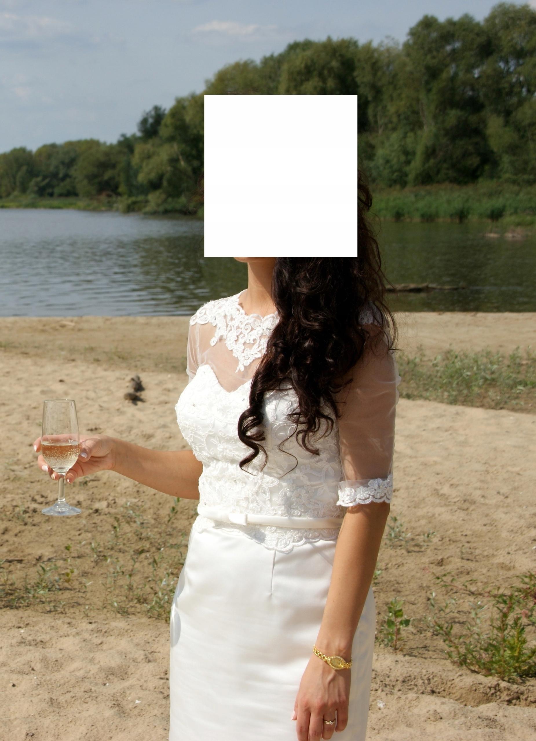 a269b5b649 Suknia ślub cywilny 36 ecru - 7680711703 - oficjalne archiwum allegro