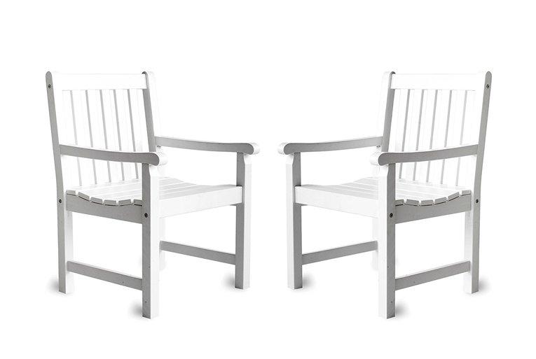 Ambientehome Krzesła Ogrodowe Białe 2 Sztuki