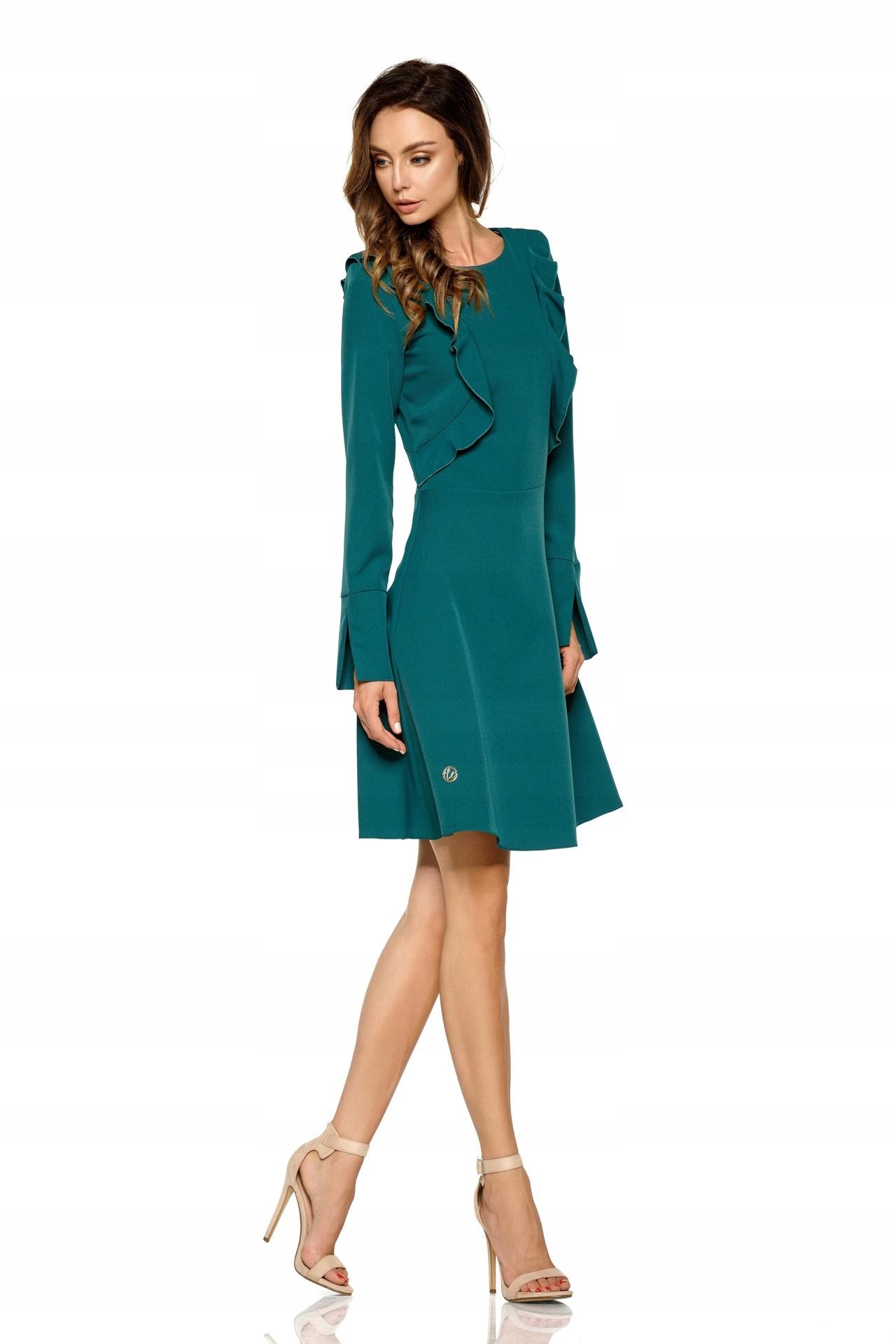 6bd869a63b LEMONIADE sukienka z długim rękawem S zielona - 7536379298 ...