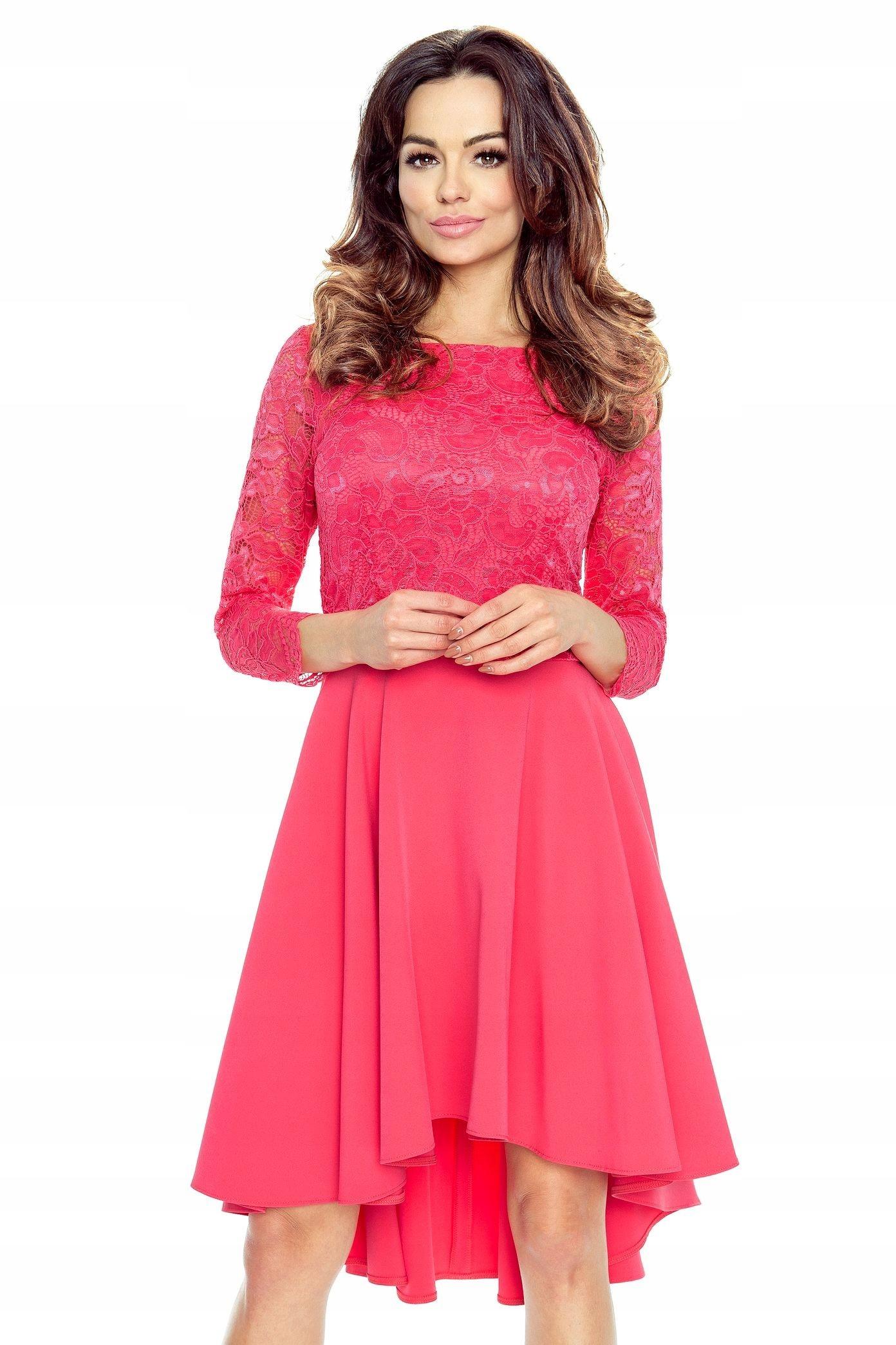 afb5d78f6d 48-04 CATERINA - sukienka z koronkową górą M - 7551465025 ...