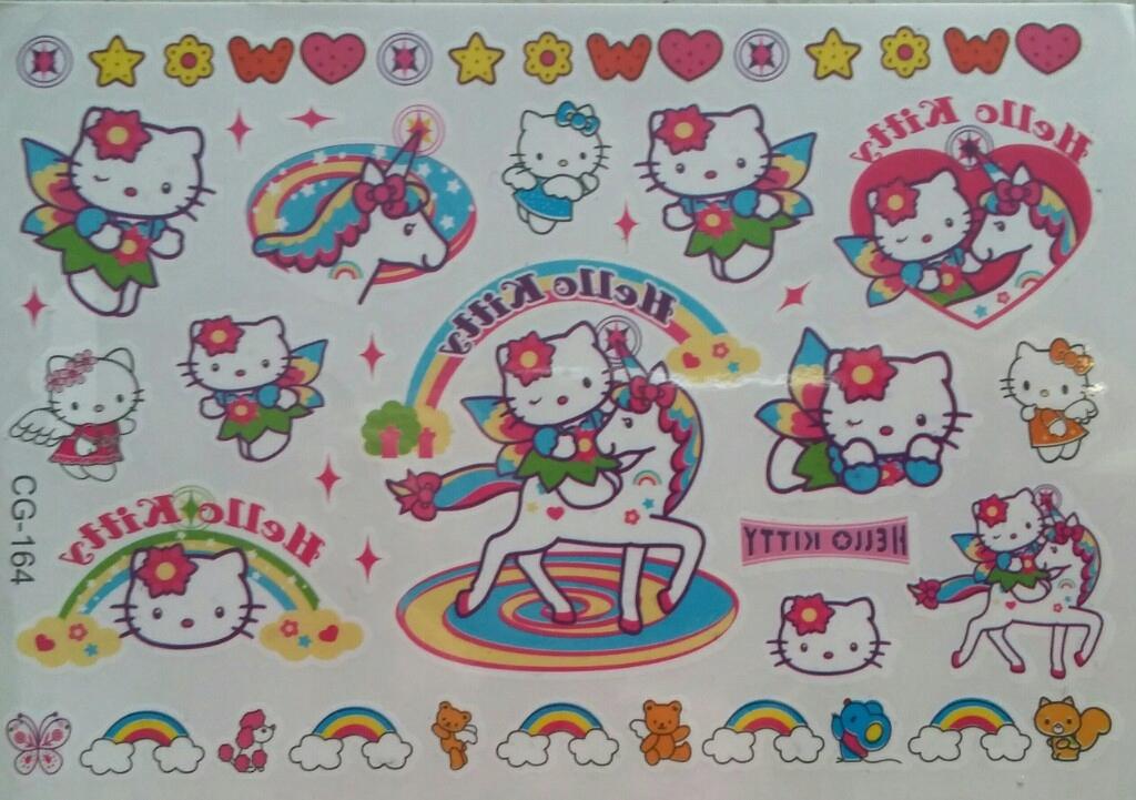 Tatuaże Zmywalne Dla Dzieci Hello Kitty 7677542971