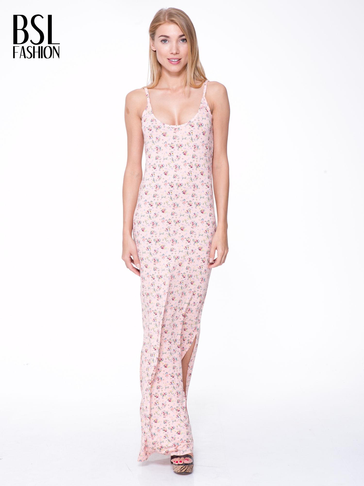a769d0819a Długa sukienka w kwiaty rozmiar 36 S - 7344859077 - oficjalne ...