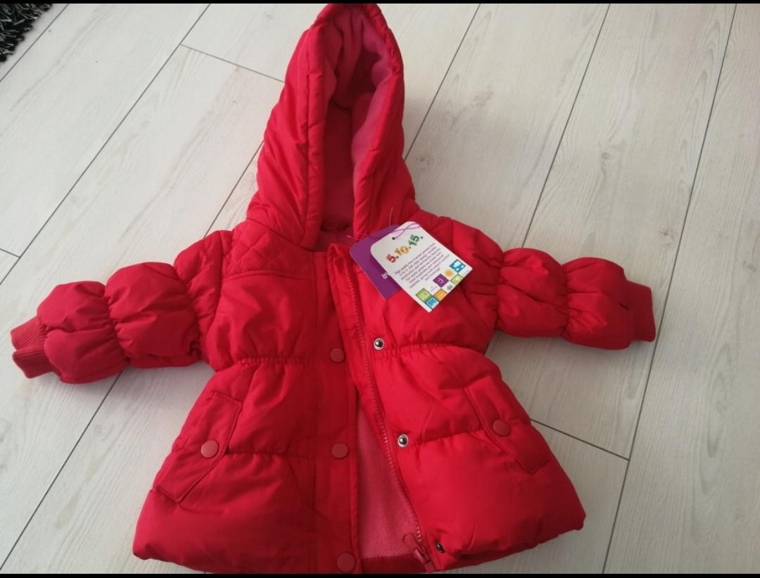 48e80ce91fa6d Kurtka dla dziecka niemowlę rozm 68 zimowa 5 10 15 - 7515775946 ...