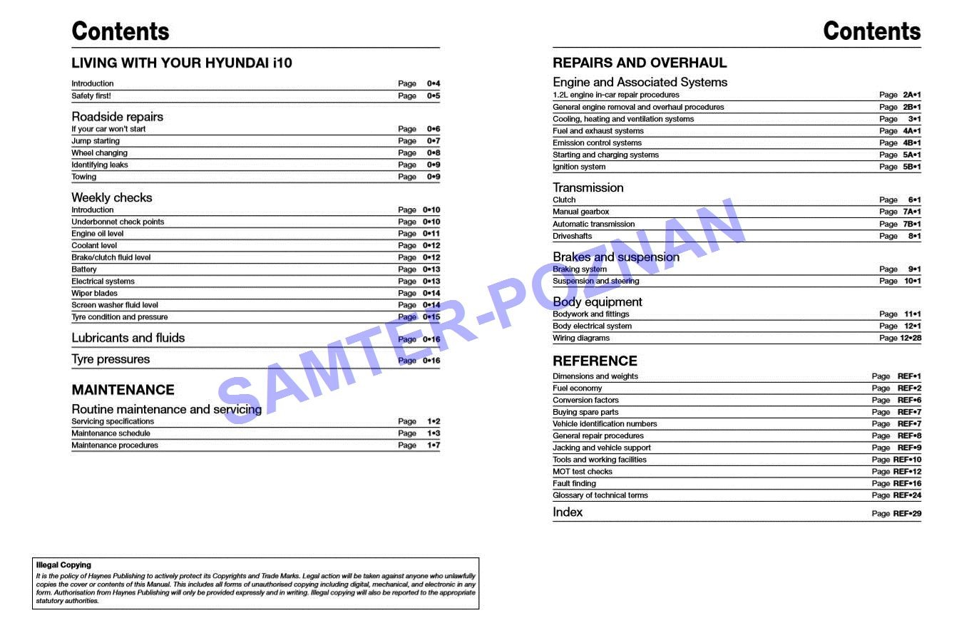 Admirable Hyundai I10 2008 2013 Instrukcja Napraw Haynes 7297968256 Wiring Database Cominyuccorg