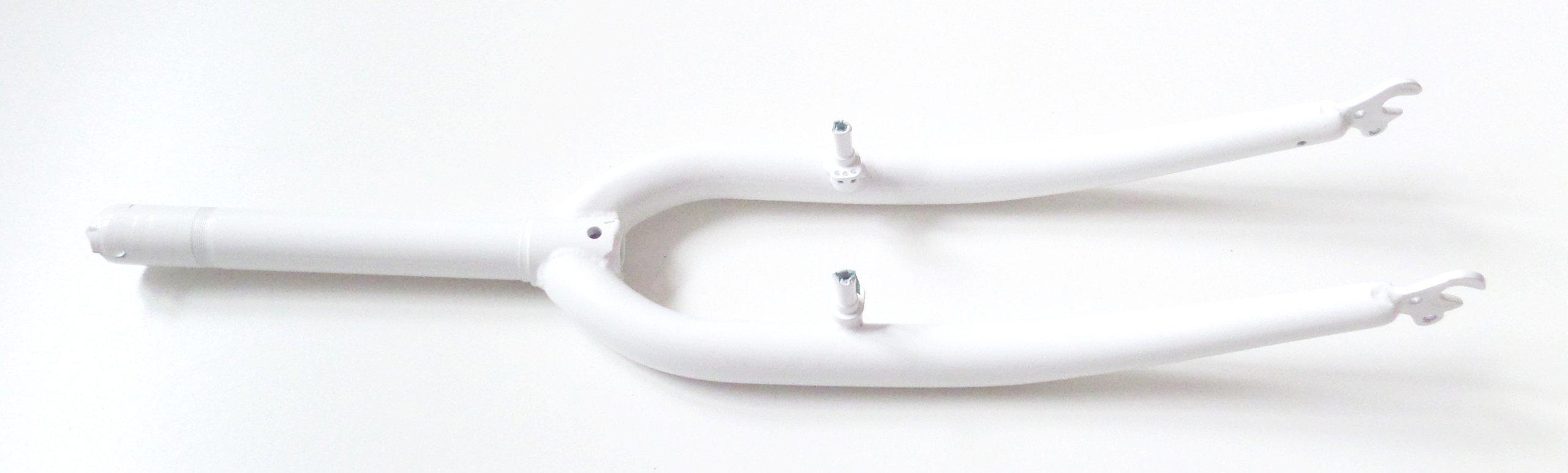 Widelec rowerowy biały 28'' 1-1/8'' 185 mm, 25310