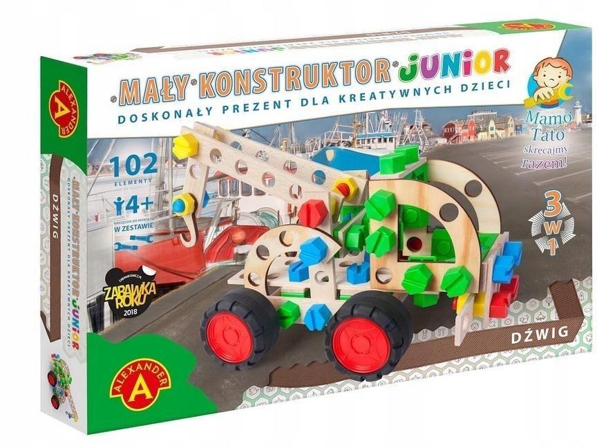 Mały konstruktor Junior 3w1 - Dźwig ALEX