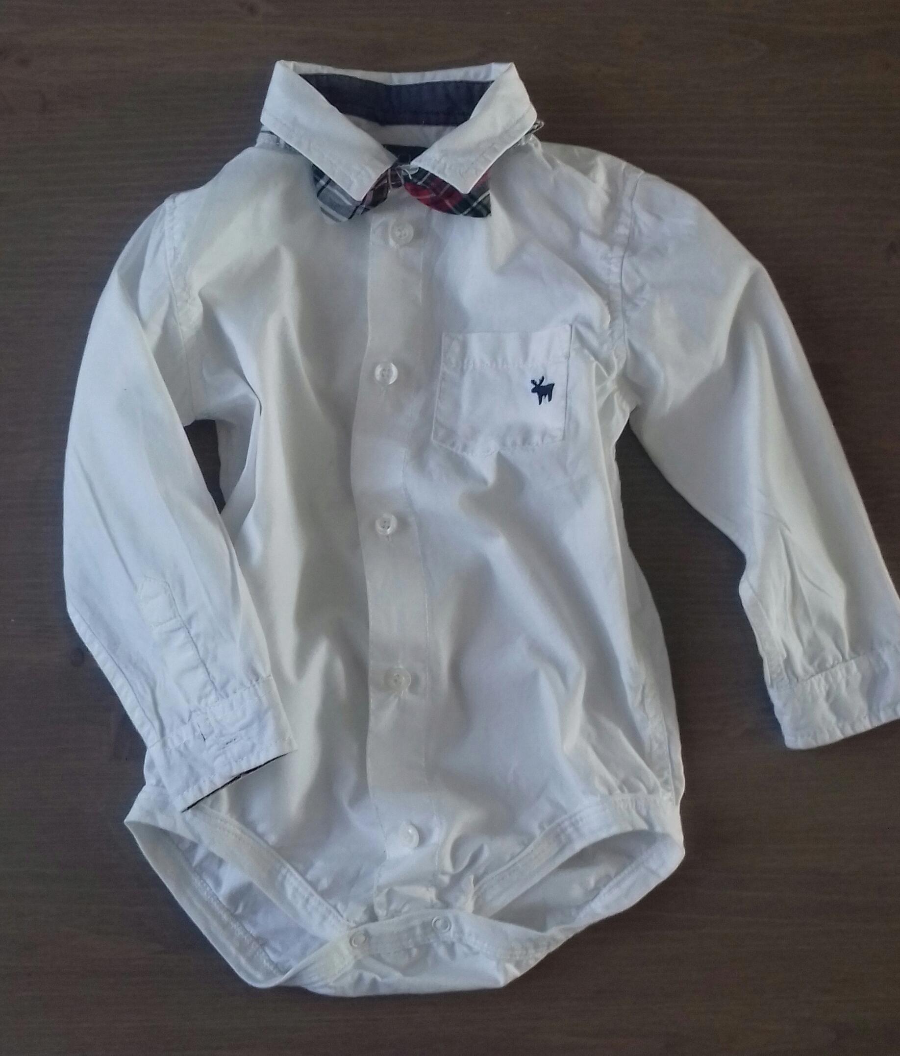 c9d92193875084 Biała koszula-body z muchą Cool Club 92cm Święta - 7719780783 ...
