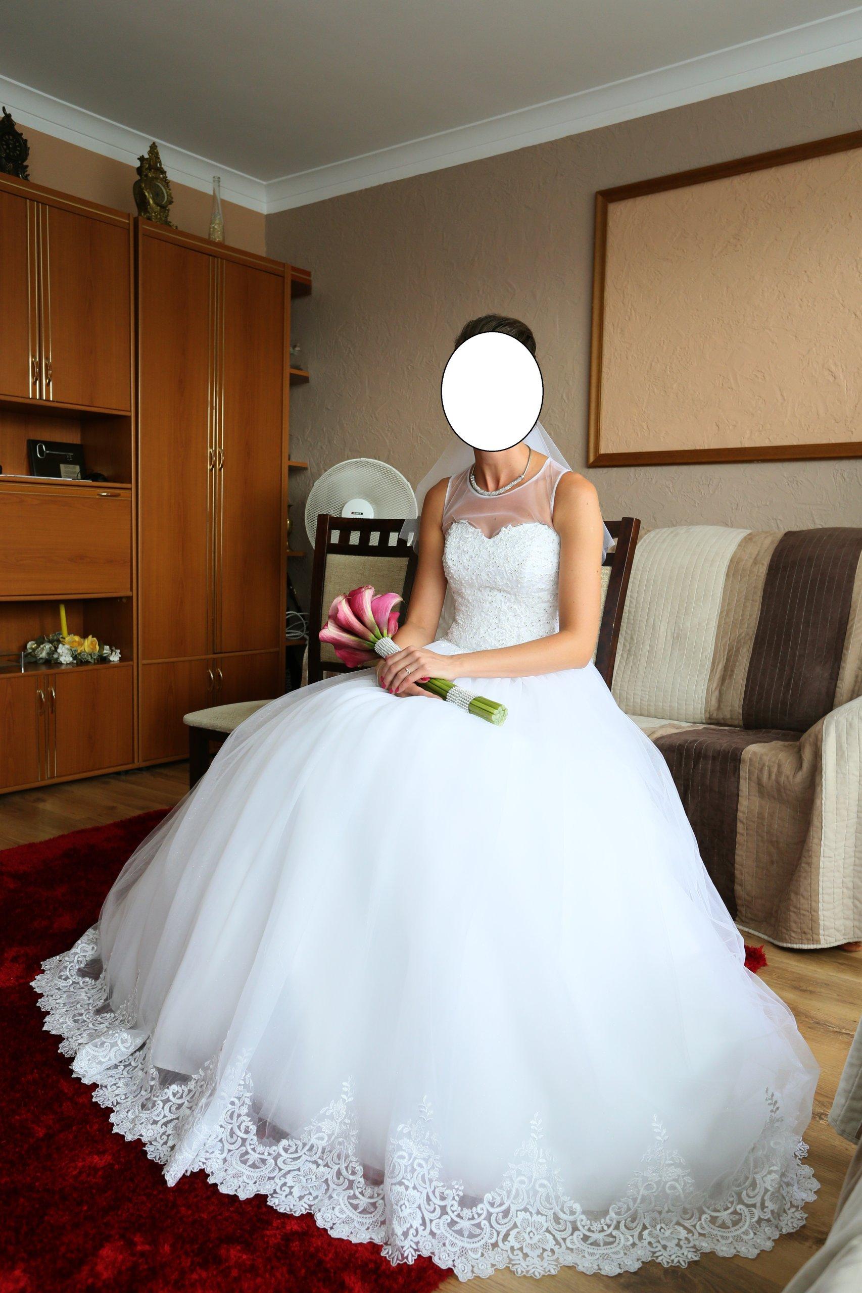 5566754f74693d Piękna jedyna w swoim rodzaju suknia ślubna - 7336686759 - oficjalne ...