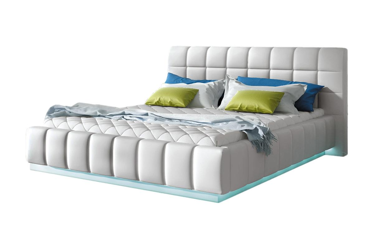 Sypialnia łoże Małżeńskie Tapicerowane 160x200 Led