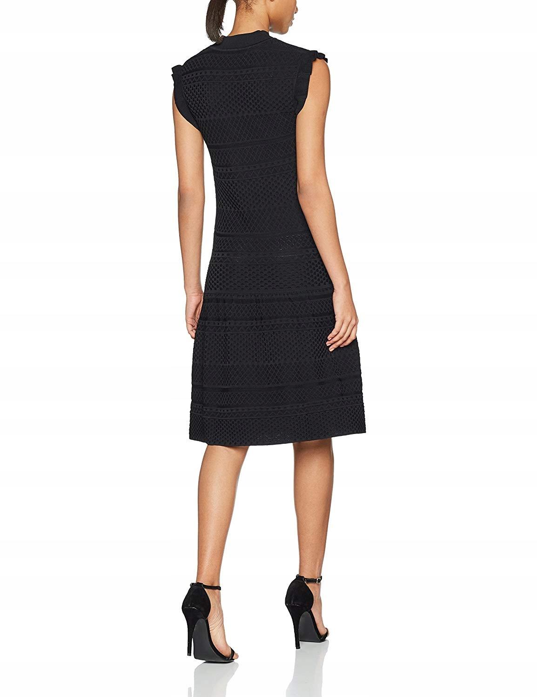 e0479ac4ef GUESS Czarna dzianinowa sukienka baskinka (XS) - 7644785720 ...