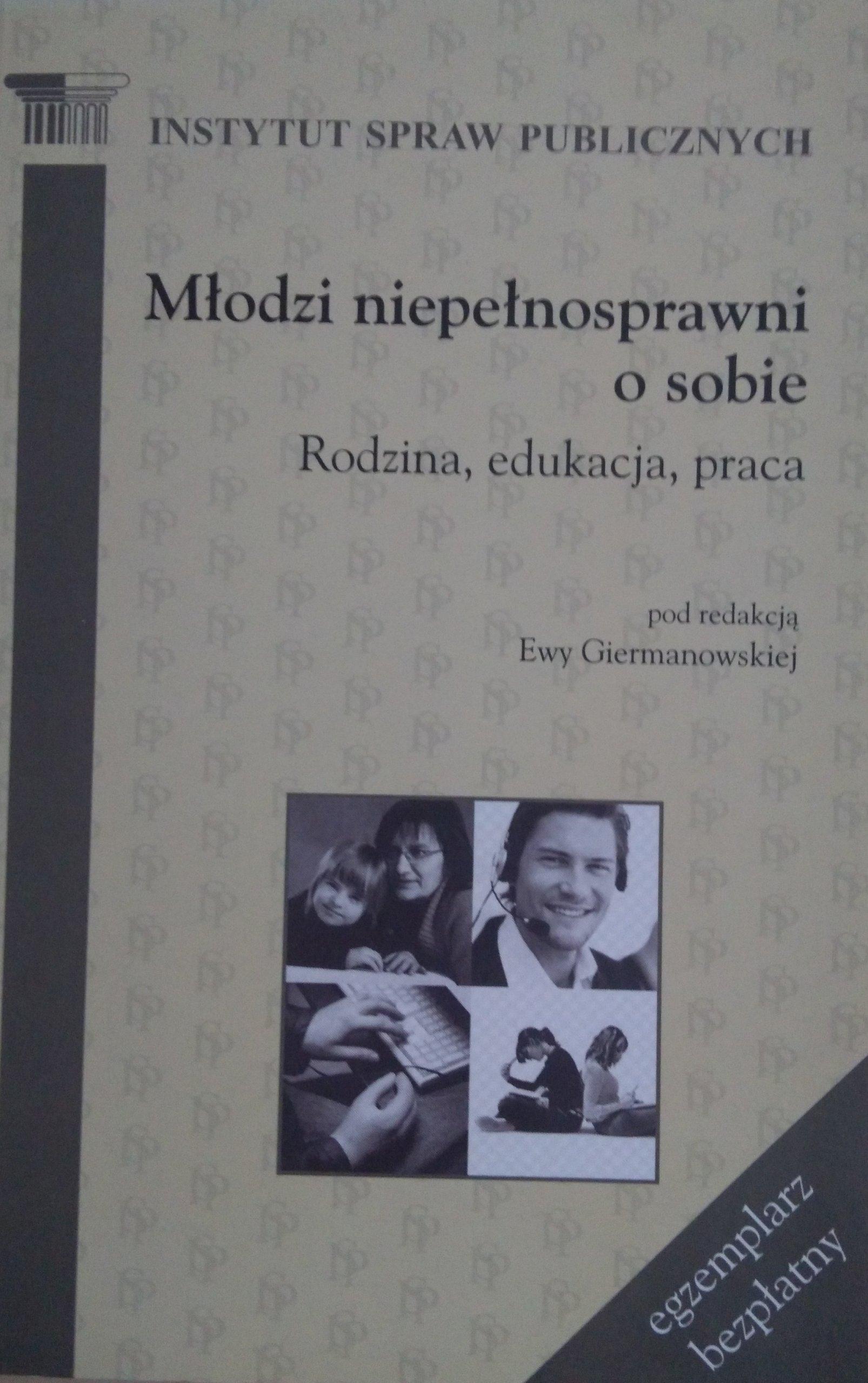 24f9165693 Młodzi niepełnosprawni o sobie Giermanowska - 7173730911 - oficjalne ...