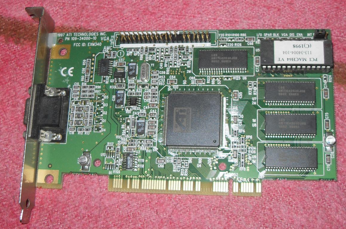 ATI PCI MACH64 VT DRIVERS PC
