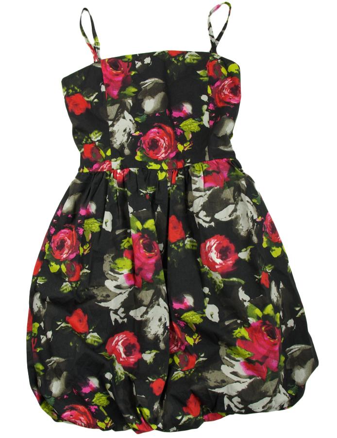TAMMY Fajna sukienka bombka w kwiaty r0zm 140 7723173937