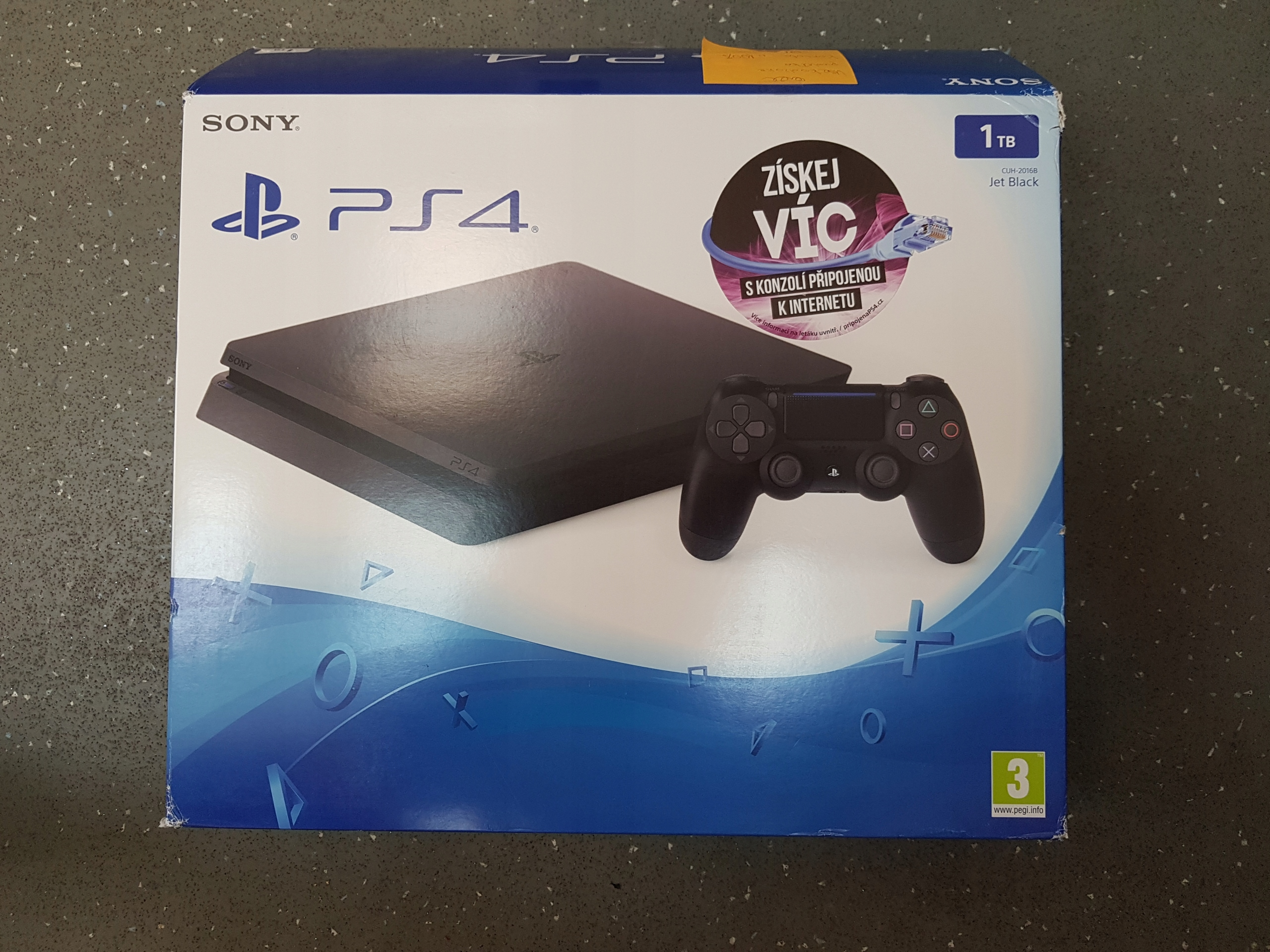 Sony Playstation 4 Slim 1tb Jet Black Cuh 2016b 7471048229 1 Tb