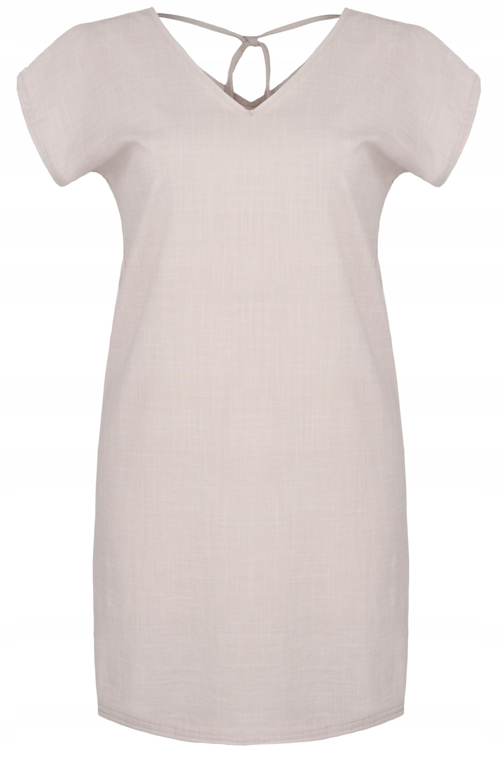 ccfa872767 Super lniana sukienka z wiązaniem na plecach ! - 7443874413 ...