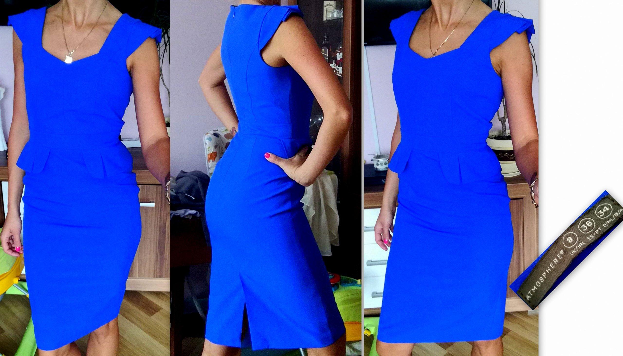 d686adea26 ATMOSPHERE chabrowa sukienka r 36 - 7417177395 - oficjalne archiwum ...