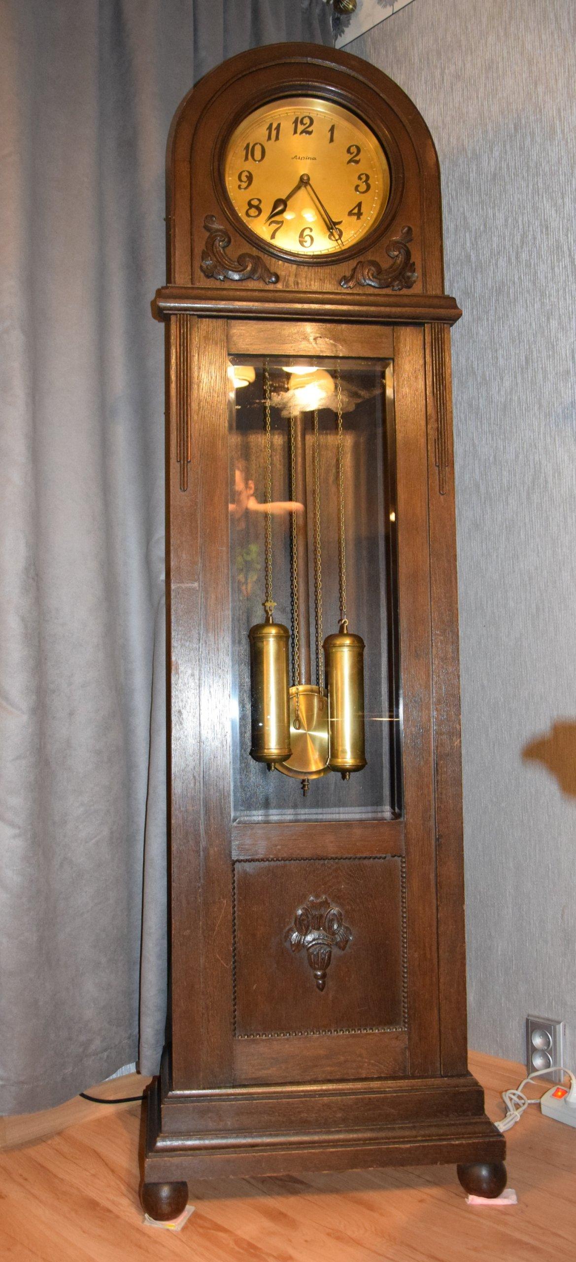 Stary Zegar Stojący Alpina Sprawny 7052331083 Oficjalne