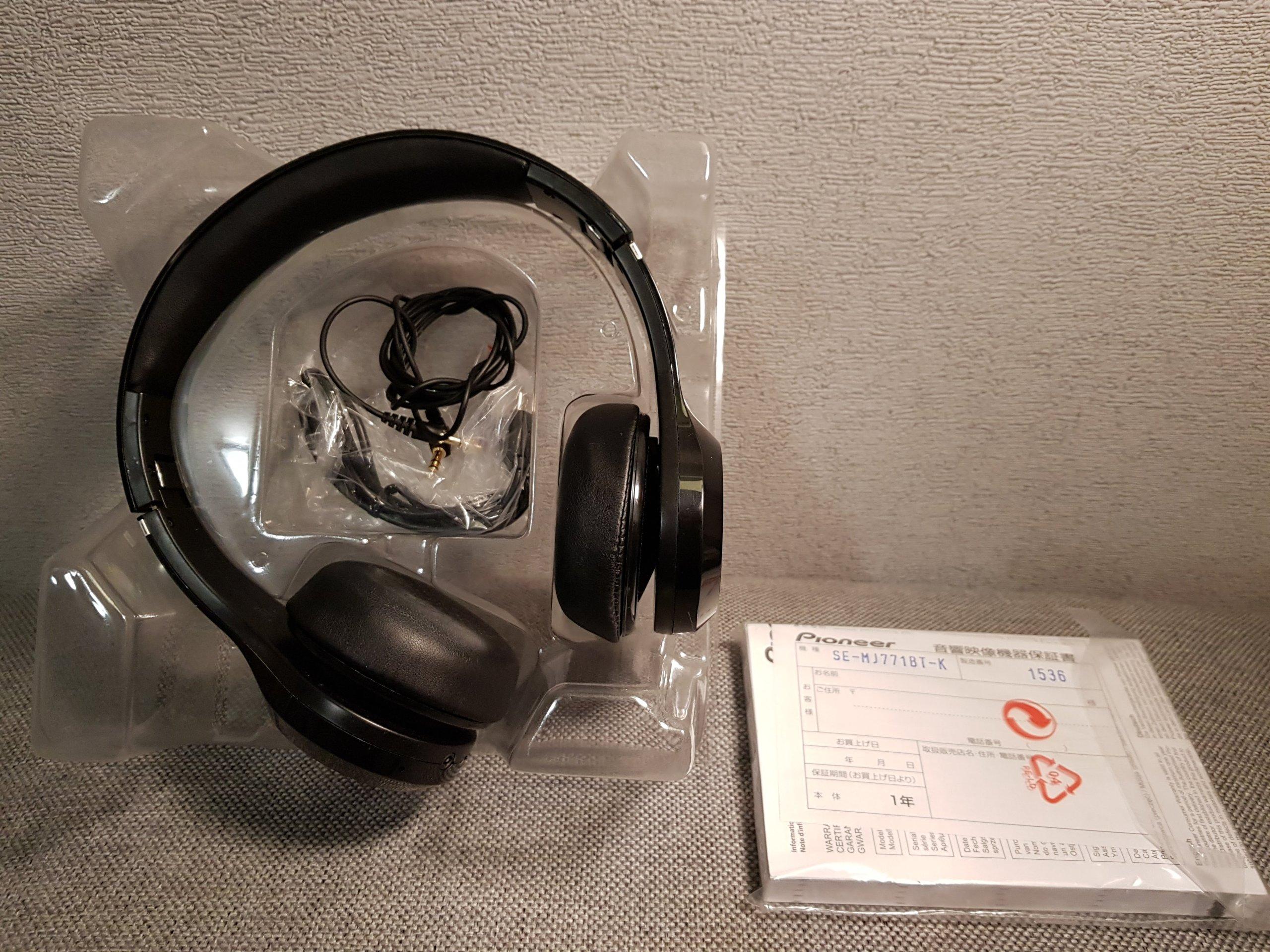 Pioneer SE-MJ771BT-K słuchawki Bluetooth BASS HEAD - 7207808234 ... 0ae12524b112