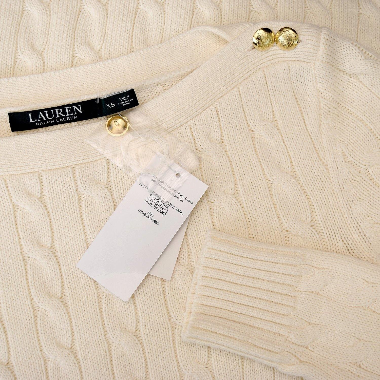 cf48199c6 RALPH LAUREN sweter kremowy klasyczny S 36 NOWOŚĆ - 7300893012 ...