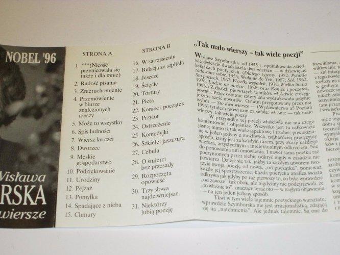 Wszymborska Czyta Swoje Wiersze Nobel 96 Kaseta