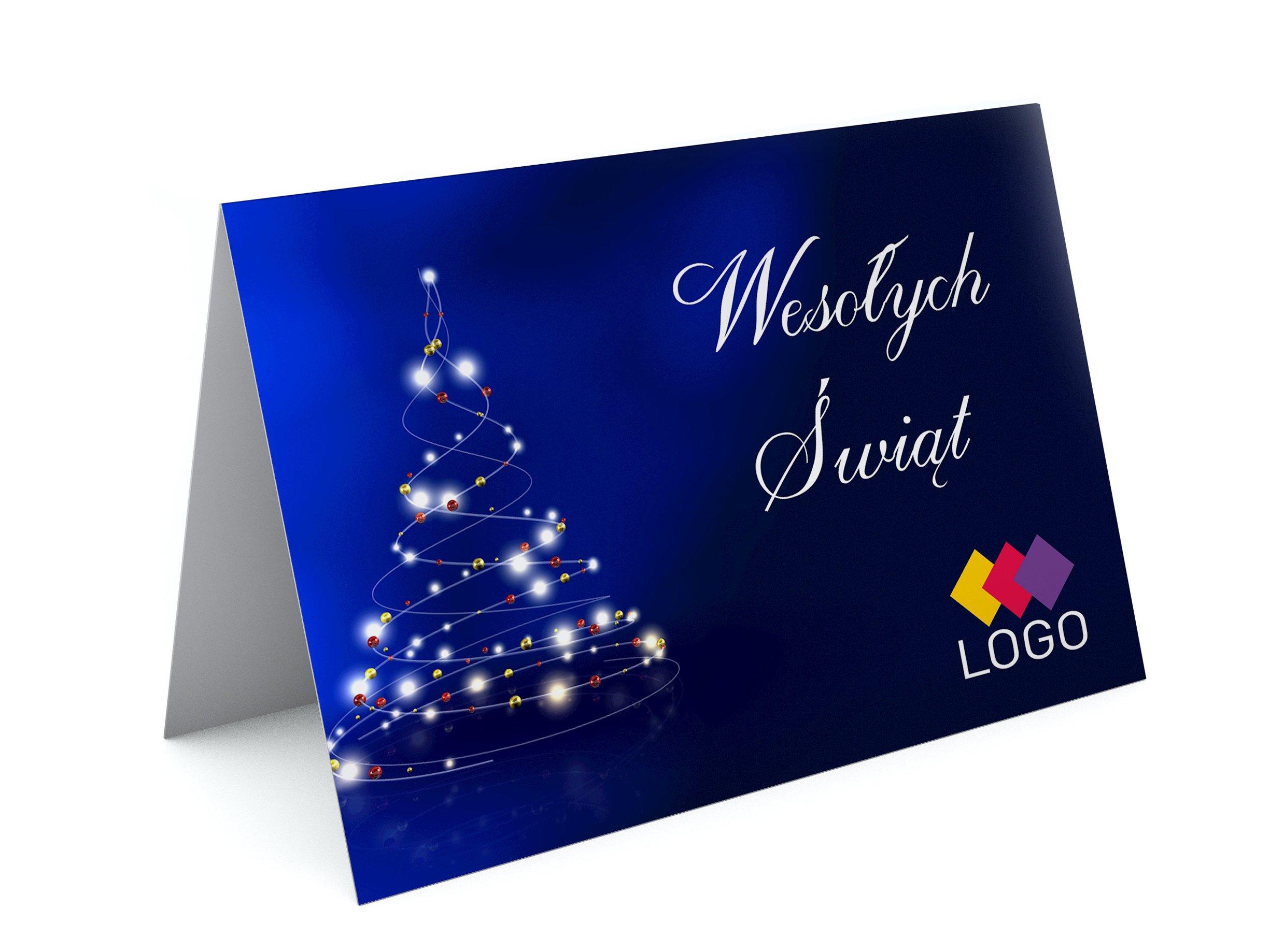 Świeże Kartki Świąteczne BIZNESOWE dla firm z logo - 7563177541 BH45