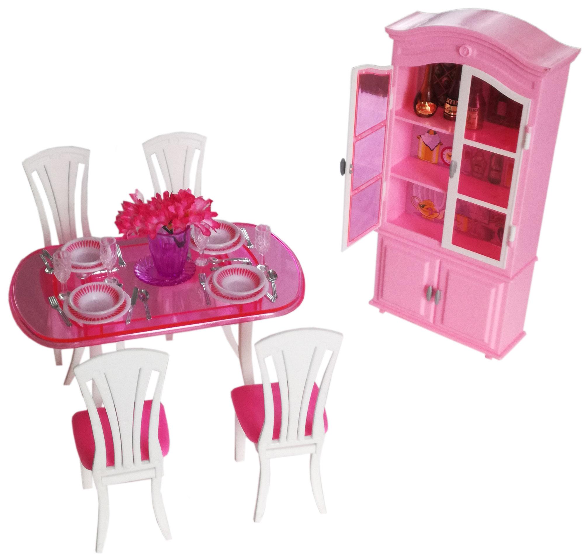 Mebelki Dla Lalek Barbie Steffi Jadalnia 7040094416 Oficjalne