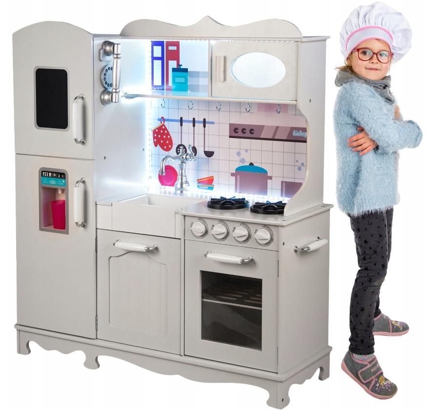 Kinderplay Drewniana Kuchnia Dla Dzieci Swiatlo 7686140417