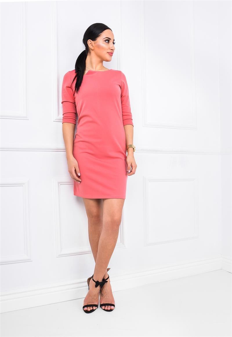 607b44bb57 Gładka sukienka klasyczny krój modny dekolt XL - 7115884289 ...