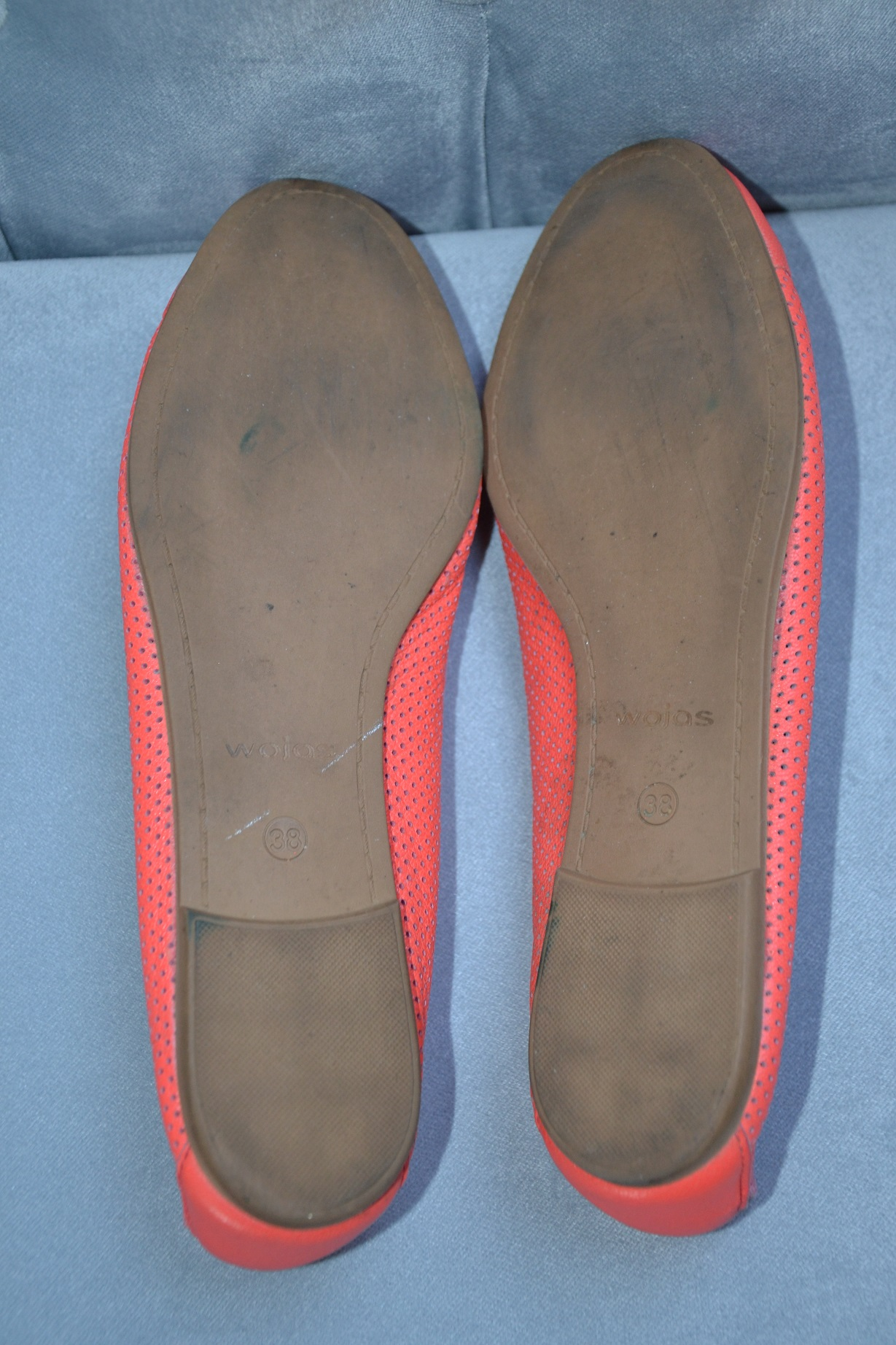 bb6ea08b77e75 Pomarańczowe skórzane balerinki Wojas - 7296804883 - oficjalne ...
