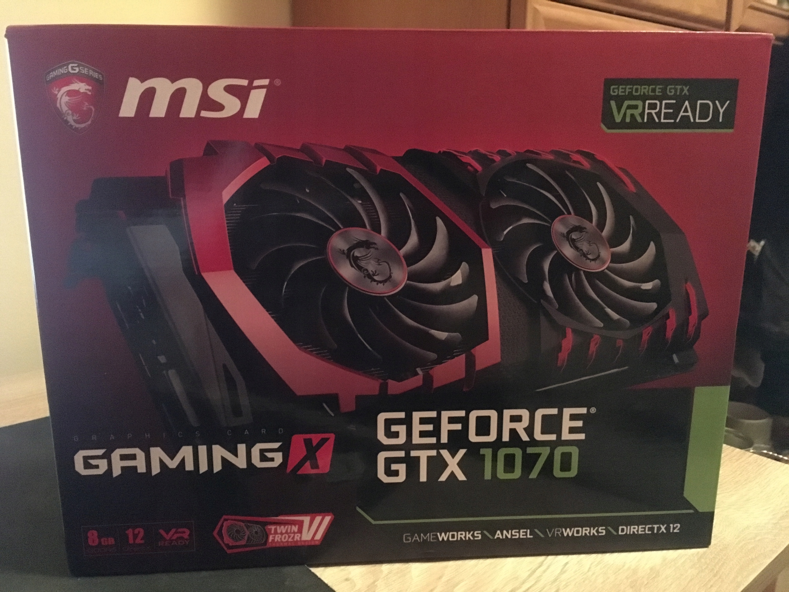 Karta graficzna MSI Geforce GTX 1070 TI 8GB Gwaran