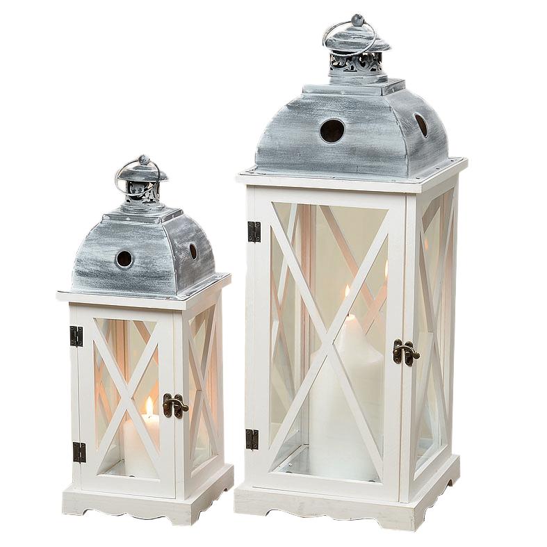 Lampion Lampiony Drewniane Dekoracja Prezent Retro