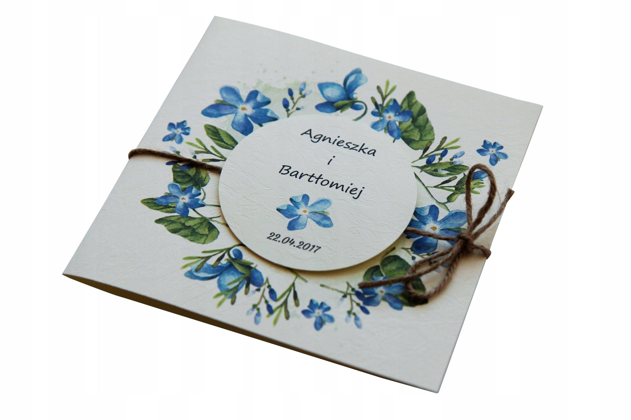Zaproszenia ślubne Rustykalne Boho Od 35 Do 48 6942597230