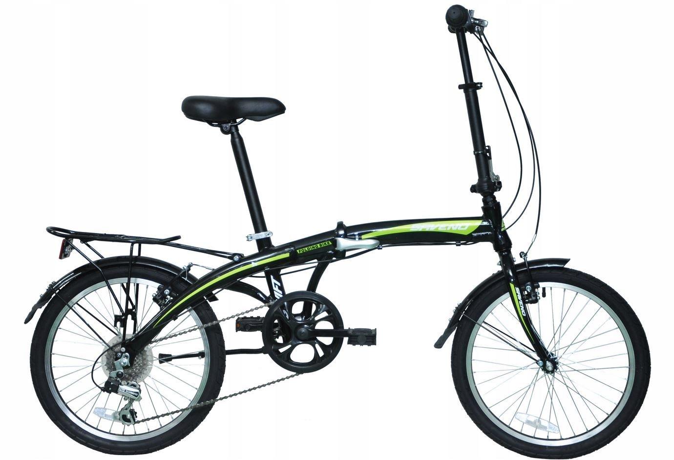 "Rower SAVENO Swift 20"" black/green składak 20"