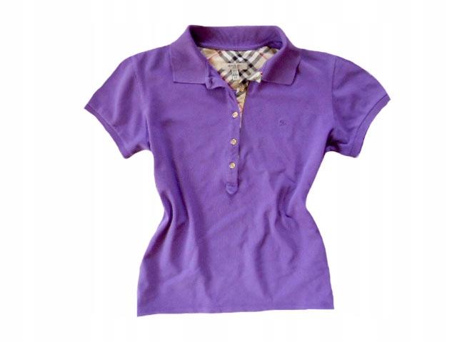 e96a25013 BURBERRY LONDON fioletowa koszulka polo XL BDB - 7284716455 ...
